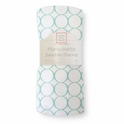Marquisette Swaddle Blanket � Mod Circles on White