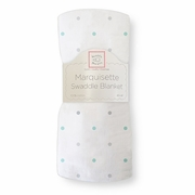 Marquisette Swaddle Blanket �  Pastel & Sterling Little Dots