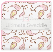 Ultimate Swaddle Blanket - Triplets Paisley