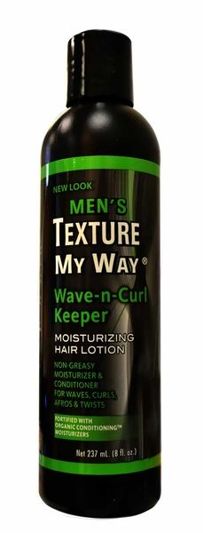 Africa's Best Men's Texture My Way Wave-n-Curl Keeper Moisturizing Hair Lotion 8 oz