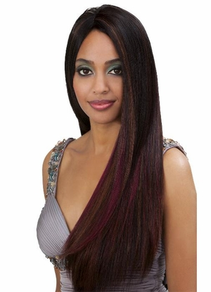 Bobbi Boss Indiremi Virgin Human Hair Remy Weave NATURAL YAKY 10S Inch - Click to enlarge