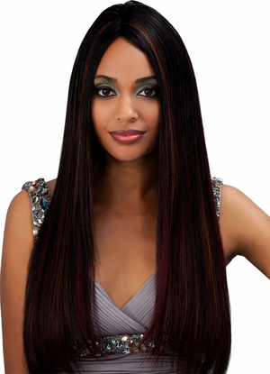 Bobbi Boss Indiremi Virgin Human Hair Remy Weave NATURAL YAKY 16 inch - Click to enlarge