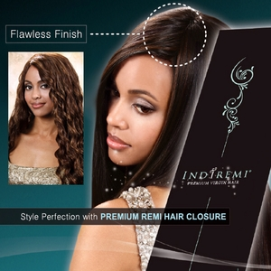 Bobbi Boss Indiremi Premium Virgin Remi Human Hair Curly Closure - Click to enlarge
