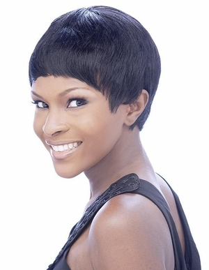 It's a Cap Weave 100% Human Hair Wig POLLY - Click to enlarge