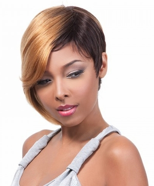 It's a Cap Weave 100% Human Hair Wig CYNTHIA - Click to enlarge