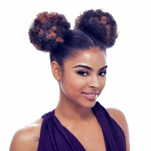 Janet Collection Ponytail Afro Puff 2pcs