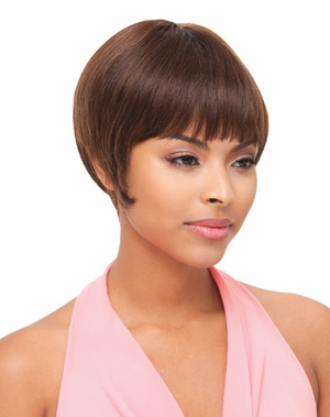 Janet Collection Human Hair Wig BERRY [D] - Click to enlarge