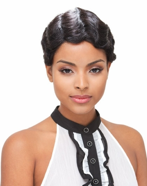 Janet Collection Full Lace Human Hair Wig MIMI - Click to enlarge