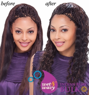 Janet collection INDIAN REMI Wet & Wavy Human Hair Ripple Deep Braiding 18 Inch