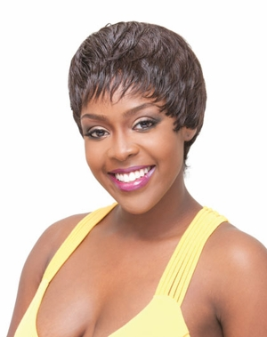 Janet Collection Human Hair Wig SHORT STOP - Click to enlarge