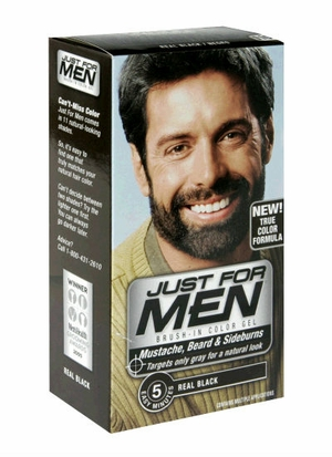 JUST FOR MEN Brush-In Color Gel for Mustache, Beard & Sideburns