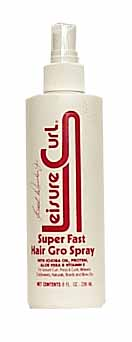 Leisure Curl Super Fast Hair Gro Spray 8 oz