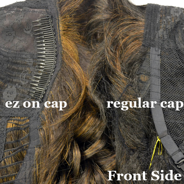 Manhattan Style Ez On Cap Half Wig P.C. ANGELA