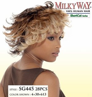 MilkyWay ShortCut Human Hair Weave SG445 28PCS