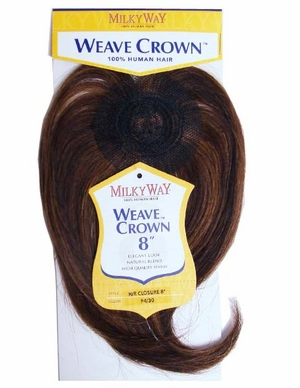 MilkyWay 100% Human Hair Weave Crown Closure 8""