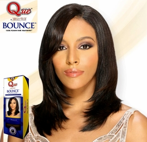 MilkyWay Que Human Hair Weave BOUNCE 10 Inch [D] - Click to enlarge