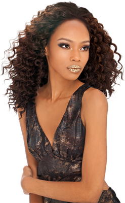 Outre Sol Human Hair Premium Mix Curly Weaving Deep Wave 10 Inch