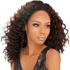 Outre Sol Human Hair Premium Mix Curly Weaving Deep Wave 10 Inch - Click to enlarge