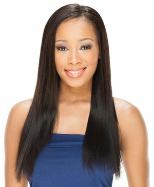 Saga 100% Remy Hair Invisible Part Wig SHEER 18 Inch - Click to enlarge