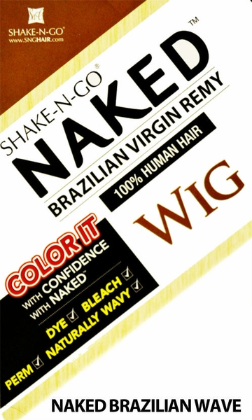 Shake-N-Go Naked Brazilian Virgin Remy 100% Human Hair Wig NAKED BRAZILIAN WAVE WIG 16 Inch