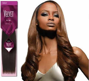 Outre Velvet Remi Yaki Human Hair Weaving 6 Inch (Half Pack) - Click to enlarge
