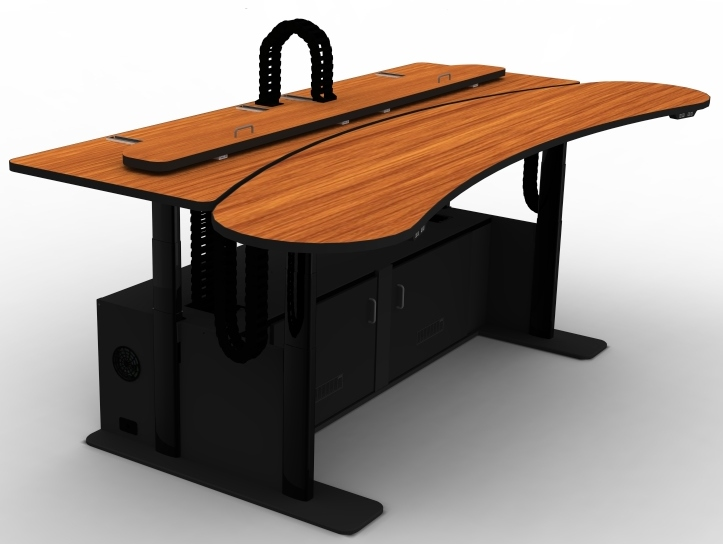 911 Dispatch Console Adjustable Height Desk Banana Ero