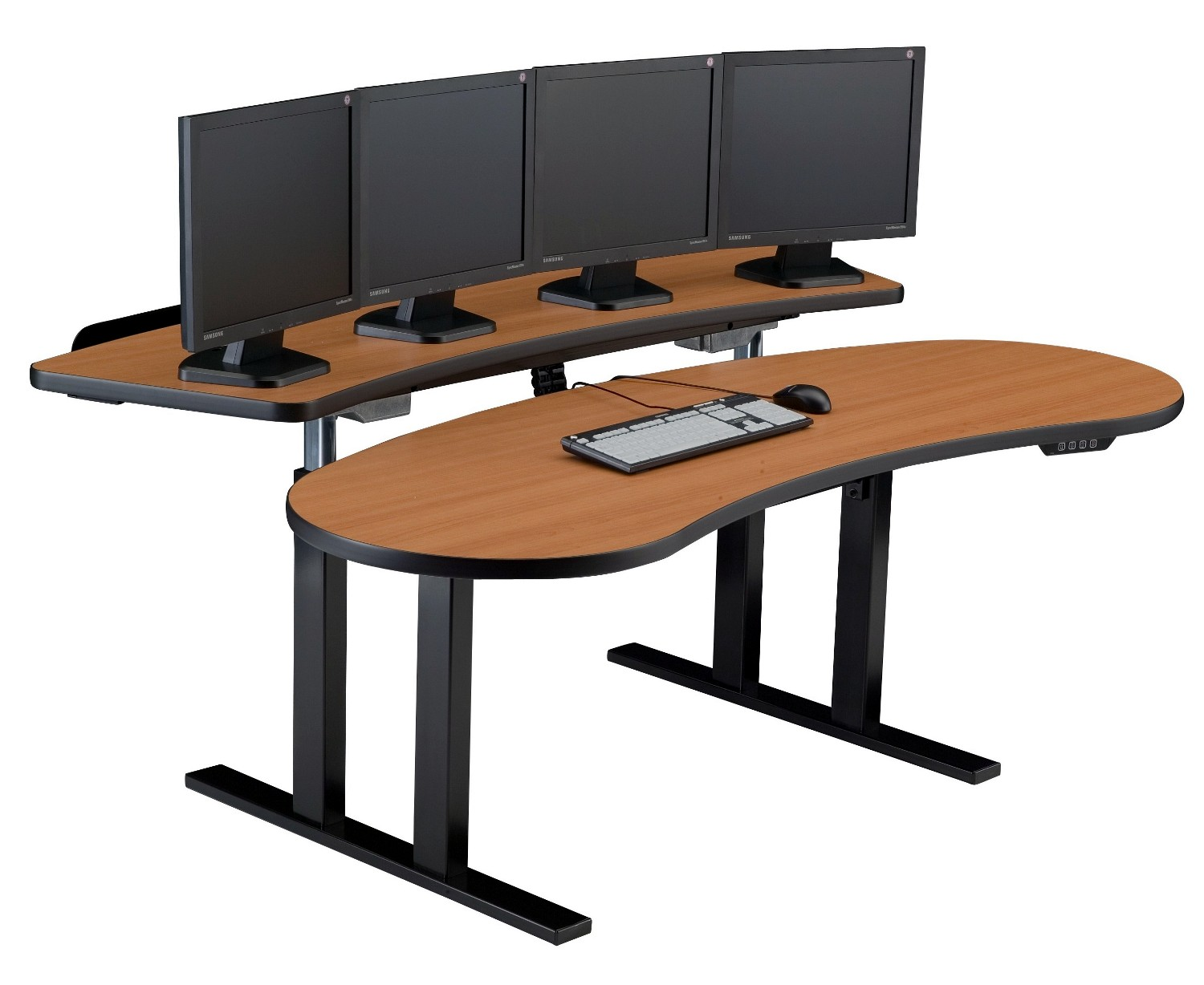 Furniture + Stand Up Desk: // PACS Sit Stand Adjustable Computer Desk