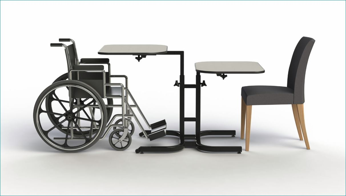 Wheelchair Accessible Adjustable Height Dining Table