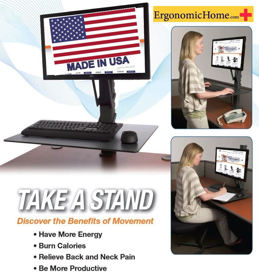 Health Postures TaskMate EZ 6400 | Adjustable Monitor Stand