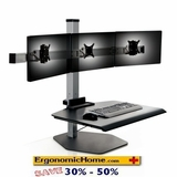 Winston Sit Stand Workstation | Triple Monitor Stand #WSTN-3-FS