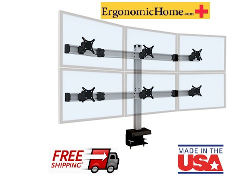 Ergonomic Home BILD Adjustable Monitor Mount #BILD-3over3