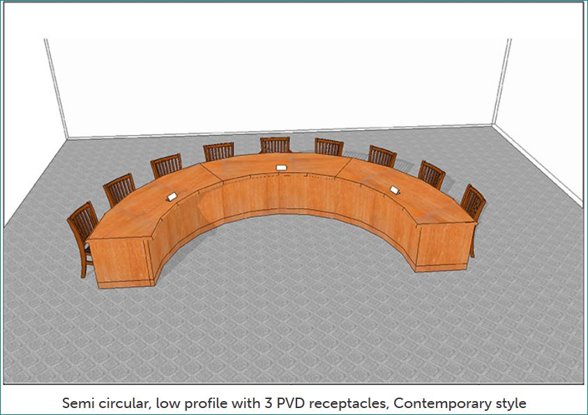 Council Chambers Desk Model A