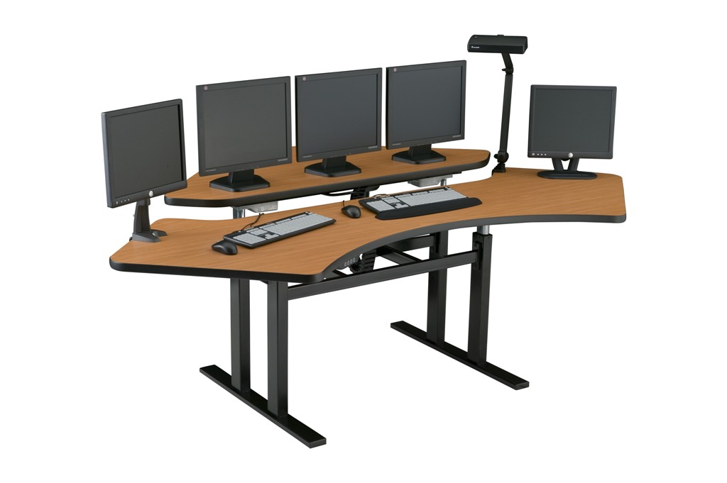 Corner Computer Desk | Control Room Console | Command Center Furniture