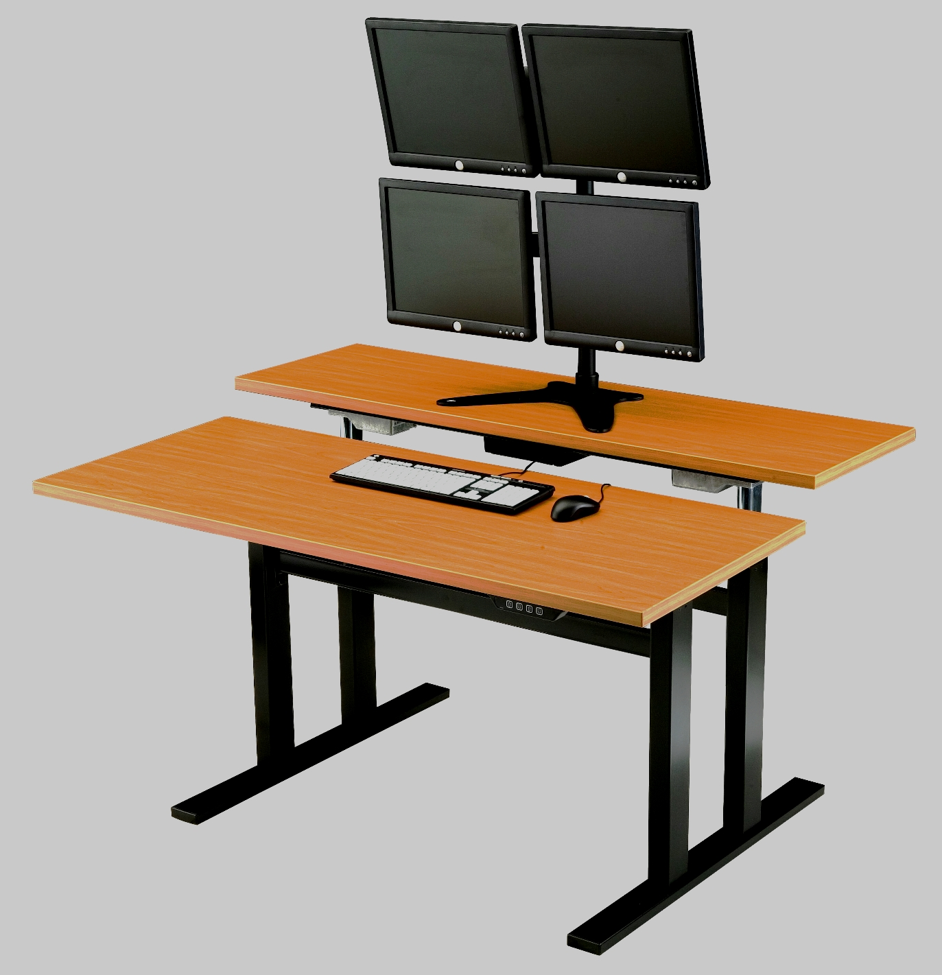 Ergonomic Computer Desk Sit Stand Workstation Adjustable