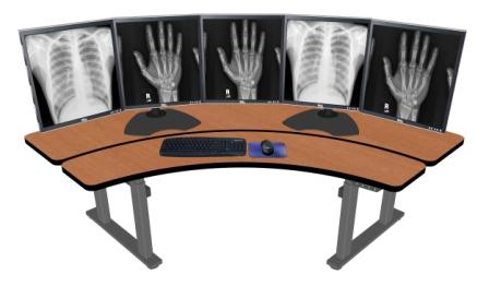 Corner Radiology Furniture #PACS-ERO72-4