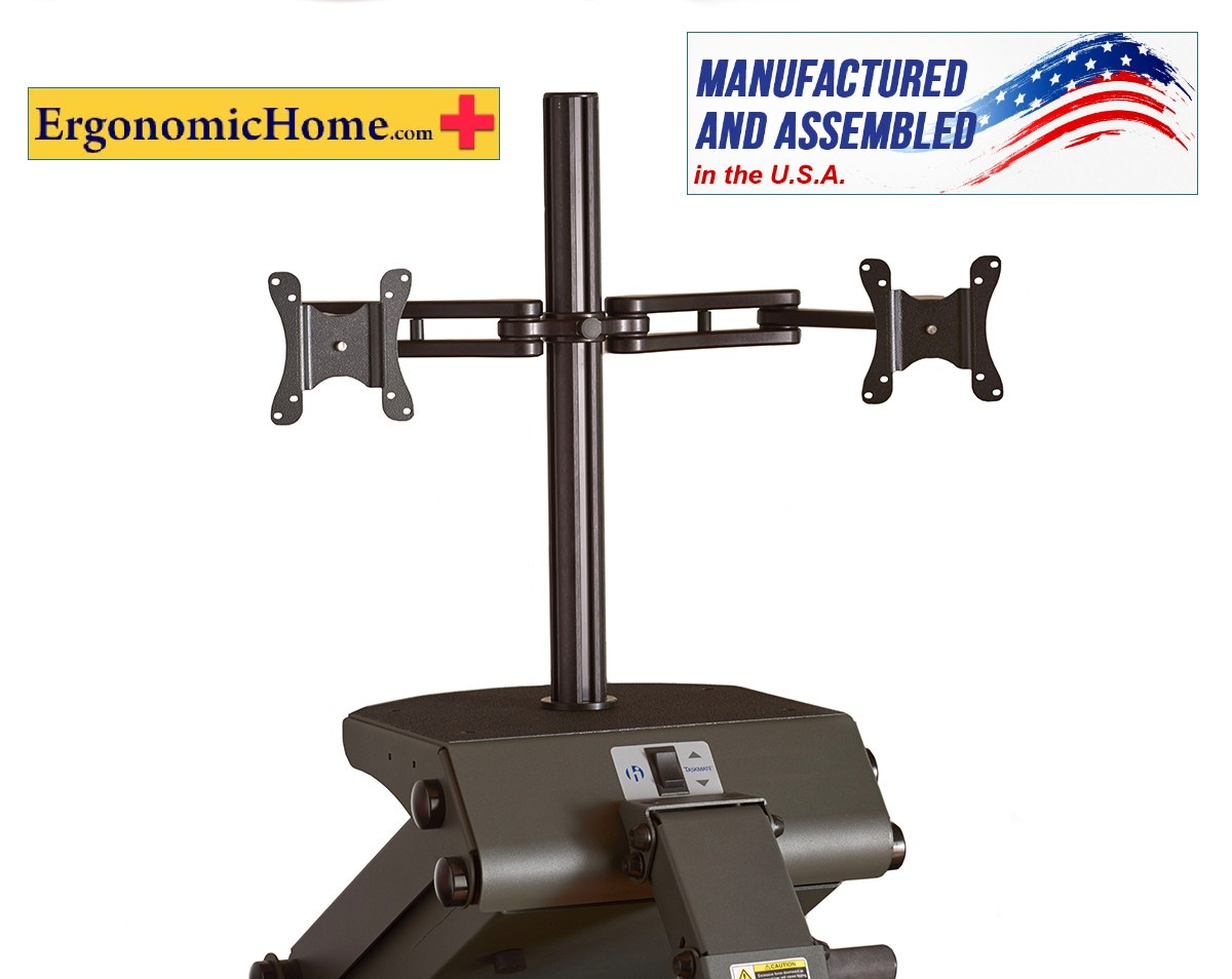 Ergonomic Home Health Postures #6912 Adjustable Dual Monitor Arm