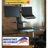 """Health Postures Go Laptop and Monitor Stand #6360   Worksurface (11"""" X 19"""") Keyboard  (13"""" X 19"""")"""