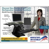 Health Postures TaskMate 6100 | Single/Dual Electric Adjustable Monitor Stand