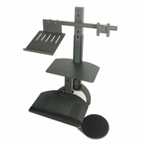 Health Postures TaskMate Go Laptop Includes Arm with a Laptop Tray and Single Monitor Mount