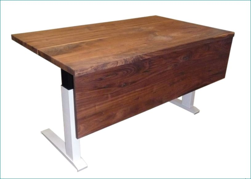 Height Adjustable Wood Desk W/ Reclaimed Wood