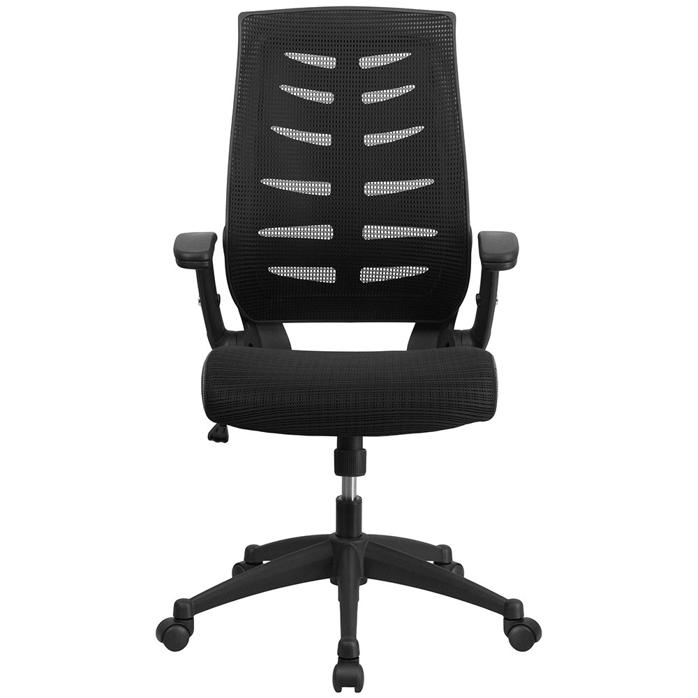 high back black designer mesh executive swivel office chair with