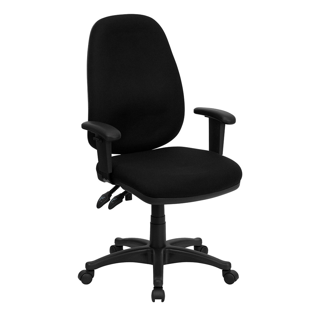 High Back Black Fabric Executive Ergonomic Swivel Office