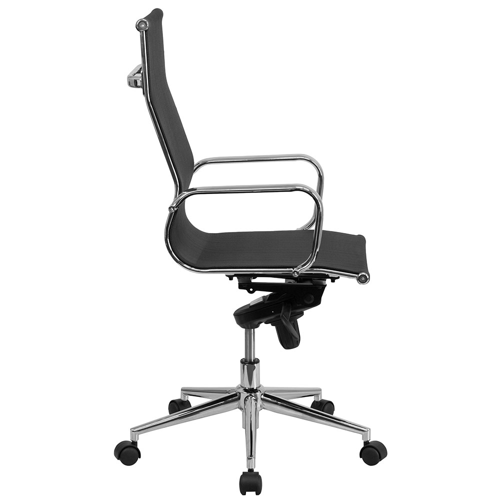 High Back Black Mesh Executive Swivel Office Chair With