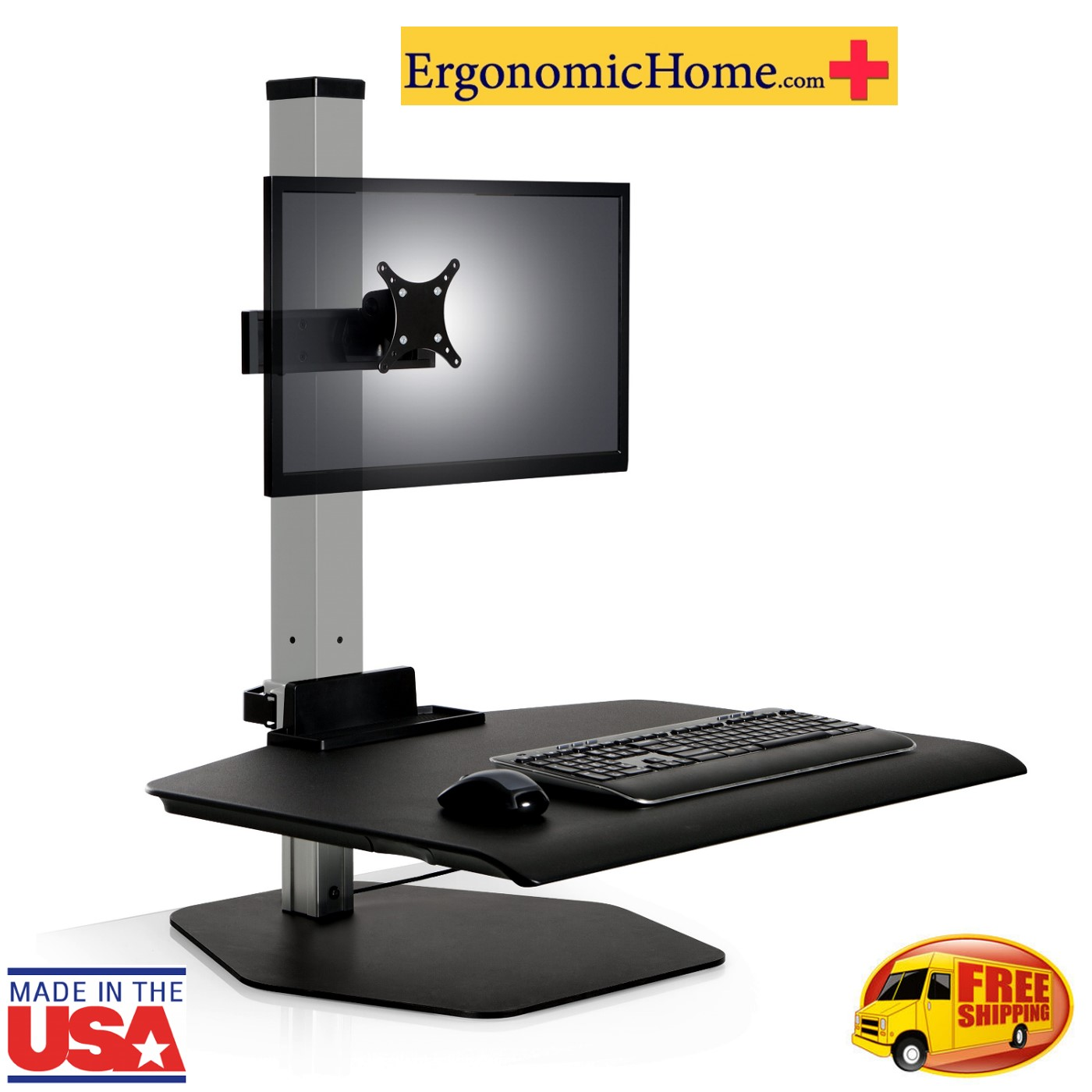 Ergonomic Home Winston Sit Stand Desk Workstation #WSTN-1-FS