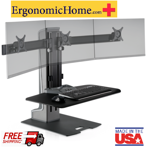 Ergonomic Home Innovative Winston Electric Motorized Triple Monitor Stand WNSTE-3-270