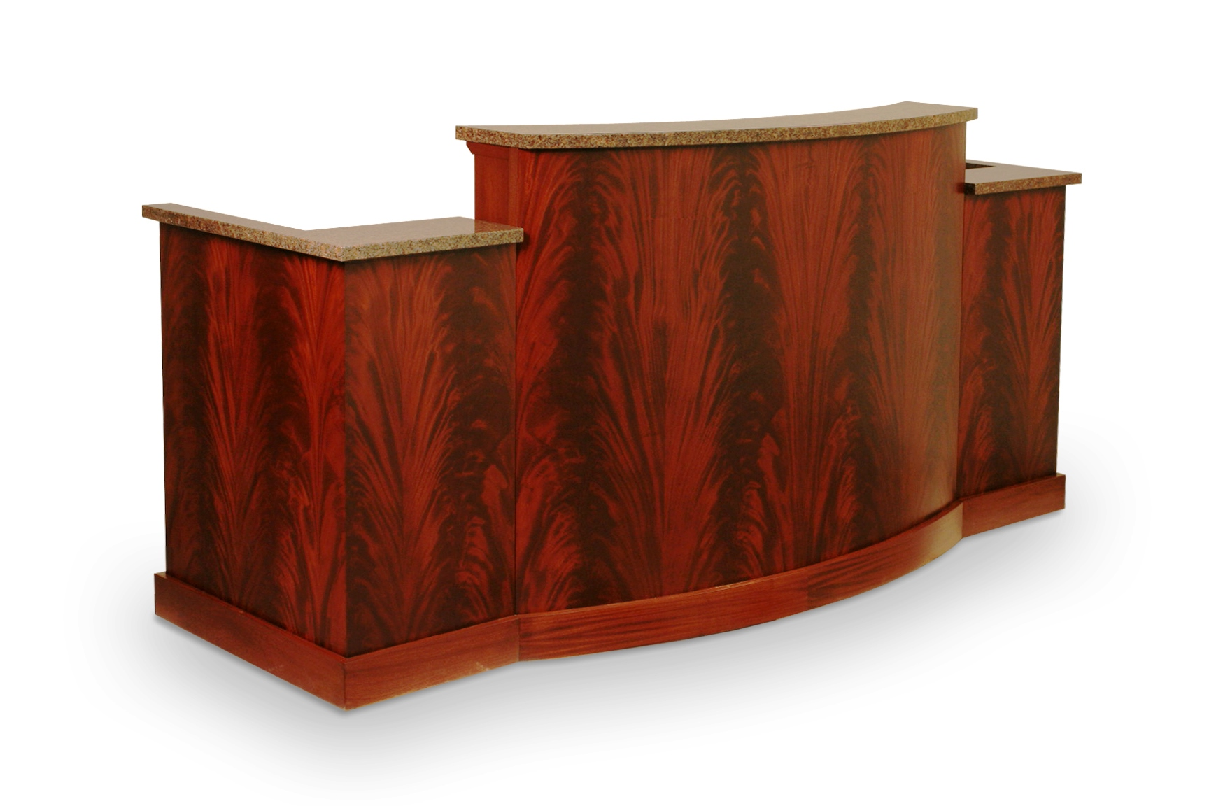 Judges Desk In Crotch Mahogany