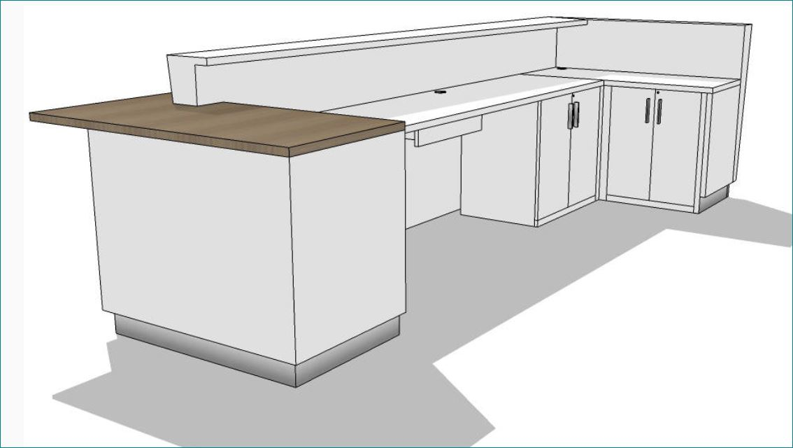Kirigami Reception Desk Custom Reception Desk Arnold