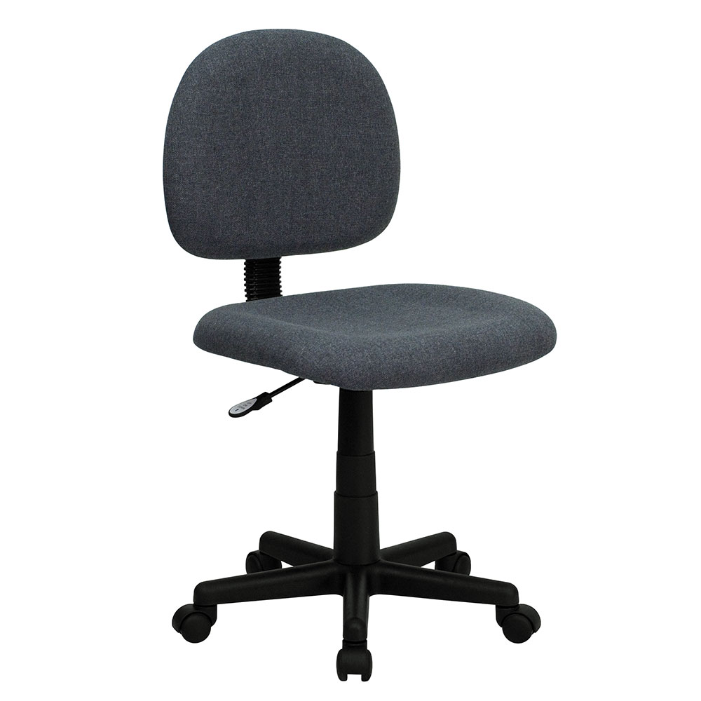 Low Back Ergonomic Gray Fabric Swivel Task Chair