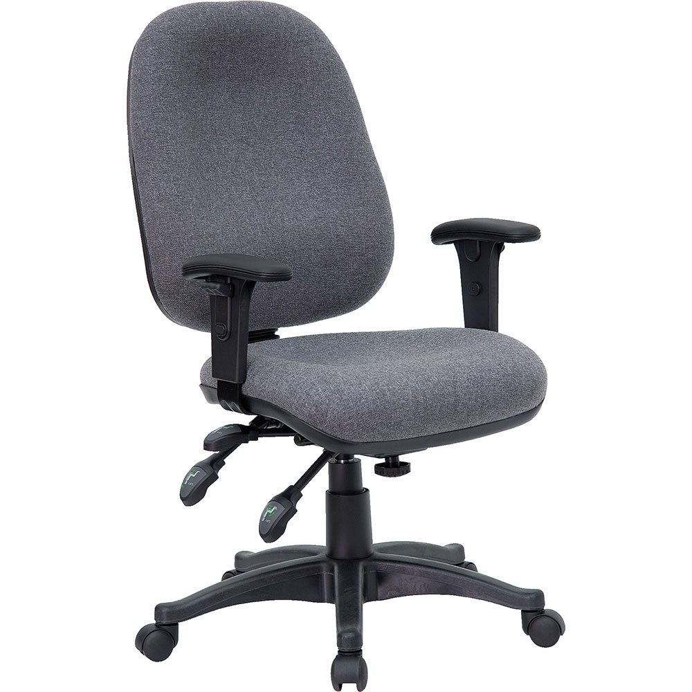 Mid-Back Multi-Functional Gray Fabric Executive Swivel Office Chair