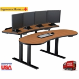 PACS Radiology Furniture | Sit Stand Ergonomic Desk Back Top Straight #PACSLGT18C-2-SQBK